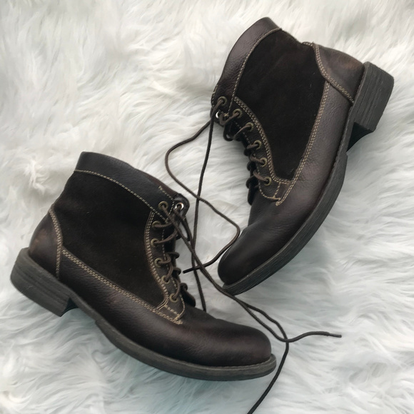 5436df2a819fd Bass Shoes | Patrick Mens Brown Lace Up Leather Boots 75 | Poshmark